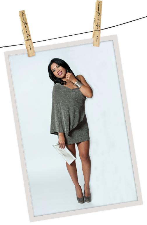 One Sleeve Cape Dress